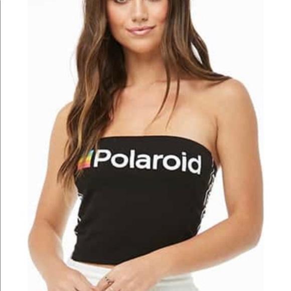 1042739bd97 Forever 21 Tops   Polaroid Tube Crop Top   Poshmark